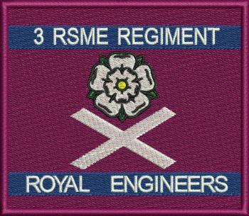 3 RSME Regt embroidered badge